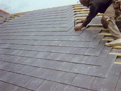 Slate roof tiling in Dublin